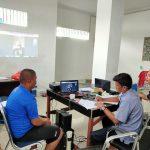 Proses penyidikan Kasus Illegal Fishing melalui Video Conference.foto : KKP